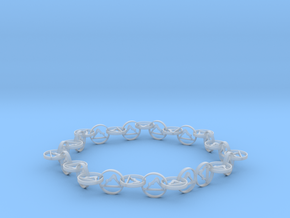 63.5 mm approximately bracelet in Smooth Fine Detail Plastic