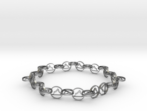 63.5 mm approximately bracelet in Natural Silver (Interlocking Parts)