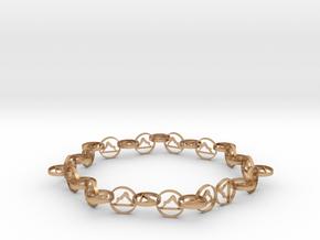 63.5 mm approximately bracelet in Natural Bronze (Interlocking Parts)
