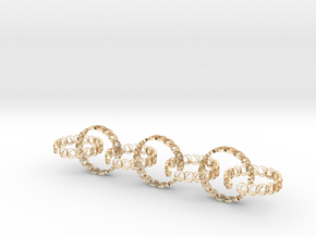 7 size 6 18.11mm rings in 14k Gold Plated Brass