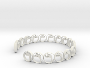 size 6 ring 18.11 mm (1) in White Natural Versatile Plastic