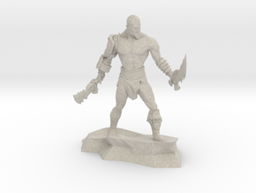Kratos god of war classic miniature fantasy games in Natural Sandstone
