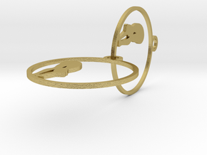 earring in Natural Brass (Interlocking Parts)