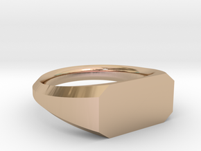UNISEX Pinky Ring Multiple Sizes in 14k Rose Gold: 6.75 / 53.375