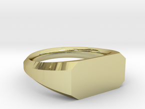 UNISEX Pinky Ring Multiple Sizes in 18k Gold Plated Brass: 6.75 / 53.375
