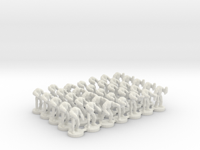 6mm B2 Super Combat Robots X35 in White Natural Versatile Plastic