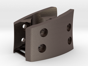 G930,G430,G230 (L&R Inside Bracket Joined) in Polished Bronzed-Silver Steel