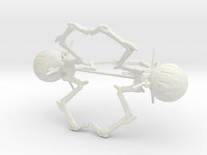 6mm Large Octopus Combat Robots in White Natural Versatile Plastic