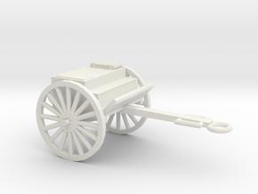 1/48 Scale Artillery Cart M1918 in White Natural Versatile Plastic