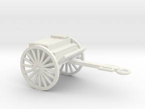 1/72 Scale Artillery Cart M1918 in White Natural Versatile Plastic