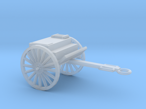 1/100 Scale Artillery Cart M1918 in Smooth Fine Detail Plastic