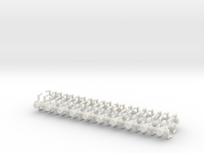 6mm Assassin Robots X20 in White Natural Versatile Plastic