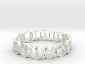 size 6 multi pose yoga ring in White Natural Versatile Plastic