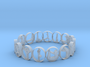size 7 multi pose yoga ring 18.92 mm in Smooth Fine Detail Plastic