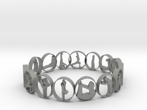 size 5 multi yoga pose ring 17.58 mm in Gray PA12