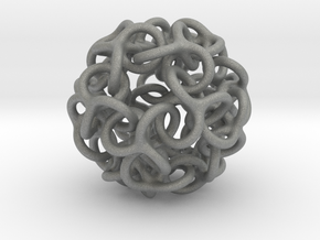 Interwoven Dodecahedron Starball in Gray PA12