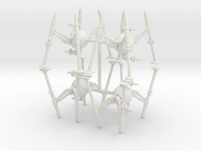 6mm OG 9 Spider Robots in White Natural Versatile Plastic