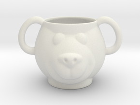 Bear Decorative Mug (downloadable) in White Natural Versatile Plastic