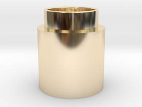 Button Activator in 14k Gold Plated Brass