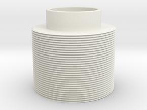 Threaded in White Natural Versatile Plastic