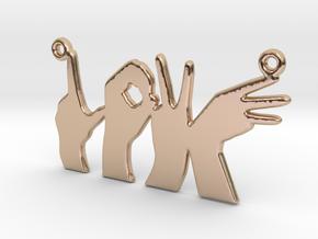 Love Hands pendant in 14k Rose Gold