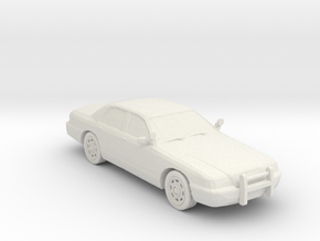 2007 Ford Crown Victoria Slick Top Police 1-87 Sca in White Natural Versatile Plastic