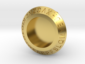 JQ Ring Size 11 in Polished Brass