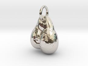 Balls Pendant in Rhodium Plated Brass