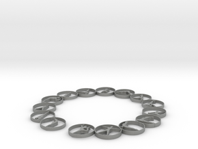 Bangle with 15 yoga poses 66.9 mmm in Gray PA12
