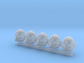 Marine_mkST_helmet_x5 in Smooth Fine Detail Plastic