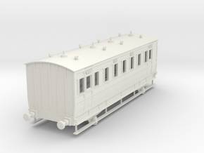 0-32-ner-n-sunderland-saloon-brake-conv-coach in White Natural Versatile Plastic
