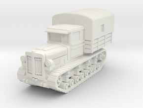 Komintern tractor (covered) scale 1/56 in White Natural Versatile Plastic