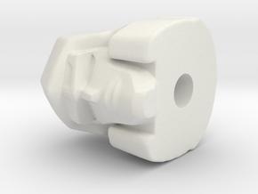 Megatron Combiner Wars  hoofd 22 mm  in White Natural Versatile Plastic