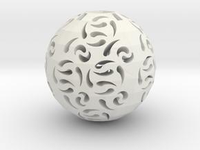 Hollow Sphere 1 in White Natural Versatile Plastic