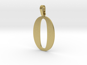 0 Number Pendant in Natural Brass (Interlocking Parts)