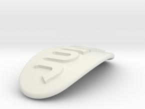 JUNE Personalized Oval Hair Barrete 40-50 in White Natural Versatile Plastic