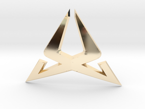 Cupra Steering Wheel Logo Front in 14k Gold Plated Brass