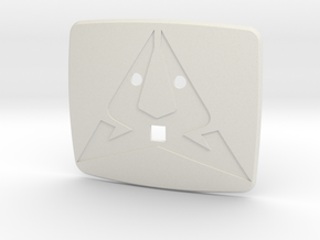Cupra Steering Wheel Logo Back in White Natural Versatile Plastic