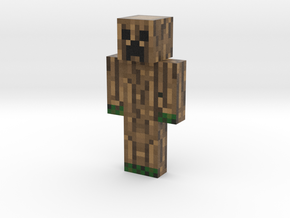 Carved_Creeper | Minecraft toy in Natural Full Color Sandstone
