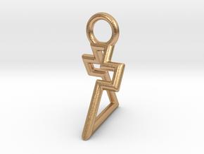 Triangle Cross pendant - Small/Medium in Natural Bronze: Small