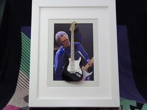 Stratocaster guitar for photo frame in White Processed Versatile Plastic