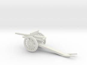 1/100 Scale 4.7 Inch Gun Carriage M1906 in White Natural Versatile Plastic