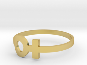 copy of venus ring size 6 in Polished Brass