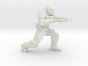 doomguy doom slayer 28mm heroic scale with shotgun in White Natural Versatile Plastic