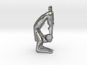 yoga jewelry - Vrischikasana in Natural Silver