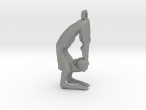 yoga jewelry - Vrischikasana in Gray Professional Plastic