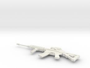 Miniature Ares Defense Shrike 5.56 Gun in White Natural Versatile Plastic: 1:12