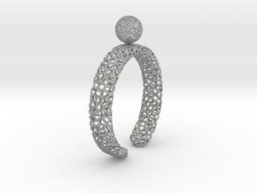 voronoi spinning ball ring (2) in Aluminum