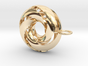 marine in 14k Gold Plated Brass: Medium