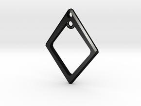 Diamond Charm Frame in Matte Black Steel